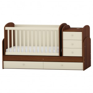 BJDWV118 arbor-bj-dark-walnut-bed